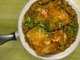Пиле с къри и леща